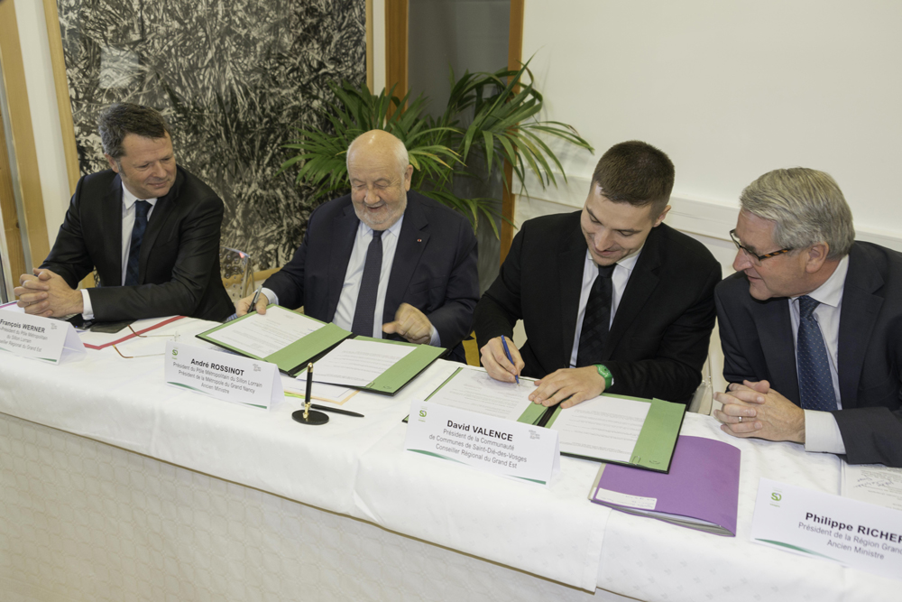 signature de la convention sillon lorrain
